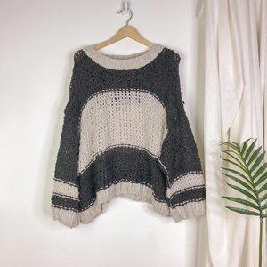 Free People Monaco Open Knit Oversized Sweater